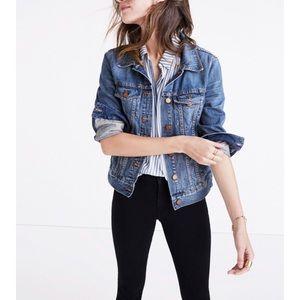 Madewell distressed jean jacket